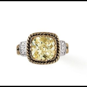 Lia Sophia Lemon Chiffon Ring Size 7
